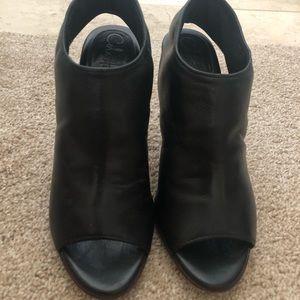 Cole Haan Leather Slingback Peep Toe Heels